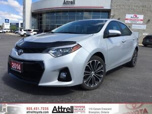 2014 Toyota Corolla S Upgrade Package. Keyless Entry, Fog Lights
