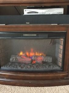 Tv fireplace stand