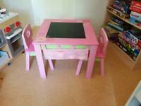 Early learning child's table and 2 chairs