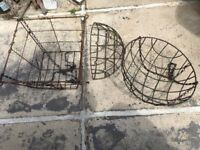 Wire Frames for hanging baskets - free to collect