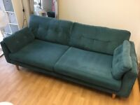 Teal colour sofa 220cm by 94 cm good condition. Selling due to buying smaller sofa