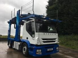 2010 10 Iveco Stralis 450 E5 6x2, sleeper cab, Belle car transporter front end