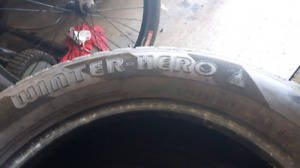 Pair of 225/50R17 winter hero tires $40!!