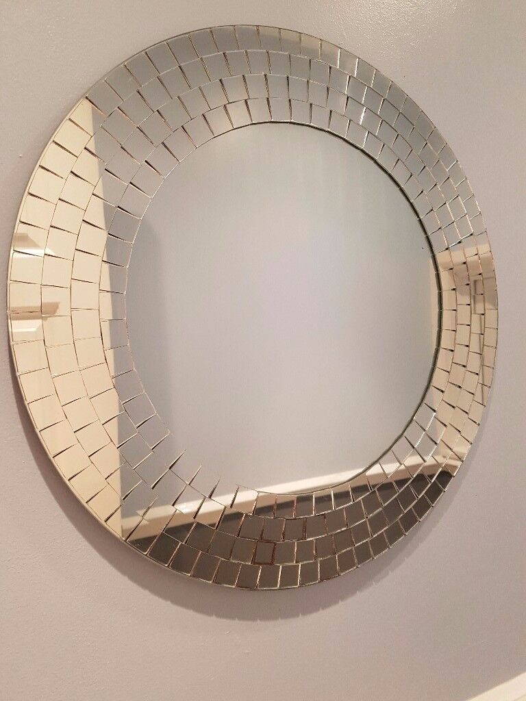Ikea Tranby Round Mosaic Mirror 50cm Diameter Collection Only Stockport