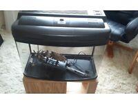 Interpet Fish Pod 64l (Xbox) aquarium with Fluval filter, heater, gravel, stand etc