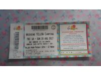 V Festival ticket - Weekend Yellow Camping (Hylands Park)