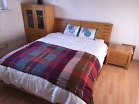 Wooden Double Bed with headboard - Great Condition
