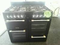 LEISURE RANGE 100CM LPG GAS COOKER IN BLACK