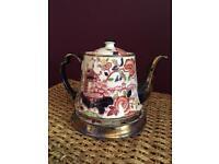 Britianna Pottery Teapot and Tea Plate