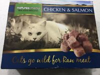 Cat Food - Natures Menu Chicken & Salmon Raw Meat - 4 x 400g Boxes unopened - Collection only