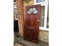 Second hand heavy wooden front door