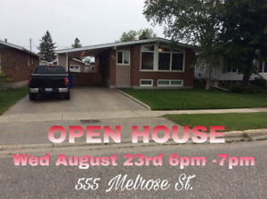 Open House Aug 23, 6-7 PM , 555 Melrose  in prime location.