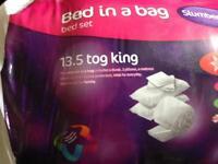 Brand new bed in a bag slumberdown duvet set
