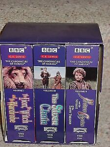 CHRONICLES OF NARNIA VHS 3 volumes