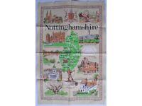 Nottinghamshire Cotton 'Lamont' Souvenir Tea Towel - Unused