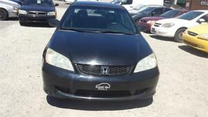 2005 HONDA CIVIC COUPE MANUAL 5 SPEED WITH SAFETY