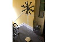 Cosmos Floor Lamp, silver standing light, striking retro metallic design, perfect condition