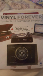 ION Vinyl Forever turntable to computer interface