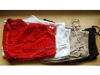 Pack of four size 16 summer linen shorts
