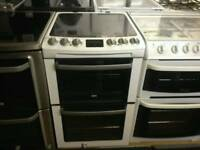 Zanussi 55cm electric cooker (double oven)