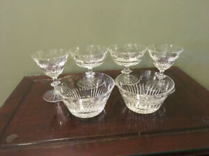 6 Assorted Lead Crystal Desert Dishes