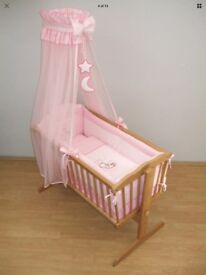 Pink canopy Bedding