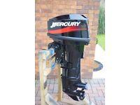 2000 Mercury 25 hp 2-stroke outboard long shaft boat engine