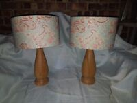 Set of two handmade table lamps