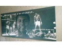 Muhammad Ali Massive Art Canvas picture of the greatest Fly like a butterfly sting like a bee