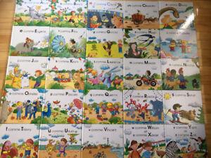 25 livres sur les lettres A-Z collection COMPLÈTE Hachette