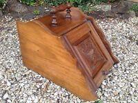 Victorian Wooden Coal Box