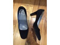 BALLY SUEDE PUMPS Black Shoes 4 1/2UK BALLY TORRESA - Made in Italy
