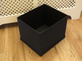 2 x IKEA denim blue storage boxes with lids to fit Expedit cubes