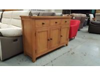 NEW Ex Display Julian Bowen Astoria Oak Sideboard Can Deliver View Collect Kirkby NG177