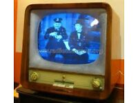 Vintage TV Rubin 102 Black & White Valve 1957 * MUSEUM COLLECTORS PIECE * - Good Condition -WORKING