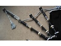 R G Lawrie Hall marked Silver Bagpipes