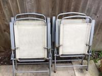 4 folding Patio chairs