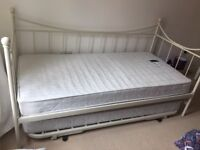 Versailles Metal Bed with Pull Out Bed, includes mattresses