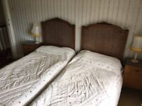 Antique French Wicker twin beds