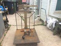 Vintage platform weighing scales