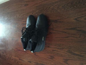 Lacoste Black Leather High Top Shoes 10/10 Size 10.5