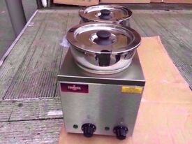 FASTFOOD 2 POT HOT CATERING BAIN MARIE MACHINE COMMERCIAL DINER SHOP TAKEAWAY RESTAURANT KITCHEN