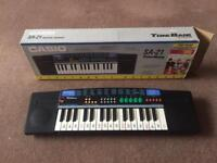 Original Casio SA-21 Tone Bank Electronic Portable Keyboard