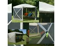 Pop-Up Screen House-Gazebo Hexagonal 350 2017 Beige or Green (H 240 D 350 x W 350)cm