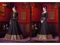 SWAGAT SNOW WHITE VIOLET 5200 SERIES WHOLESALE DESIGNER GOWN AND SALWAR SUITS