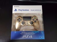 BNIB PS4 DualShock 4 V2 Wireless Controller Gold Brand NEW