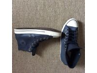 Converse all star hi leather trainers size 9