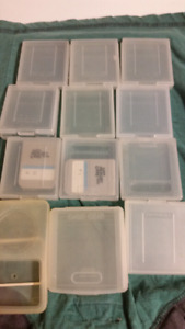 Old Nintendo Game storage cases and memory cards