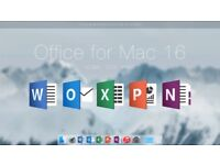 Microsoft Office 2016 Home and Business for Mac! One off payment!