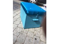 3 wooden solid storage boxes